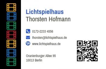 Kino & Theater-Visitenkarte Modern