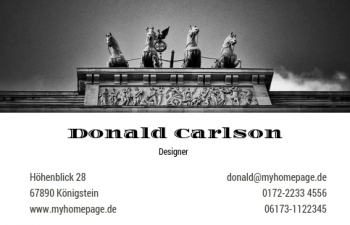 Branchen-Visitenkarte Berlin