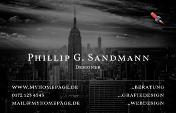 Werbung & Design-Visitenkarte Take Off Version-2