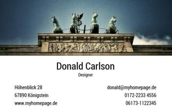 Übersicht Designs-Visitenkarte Berlin