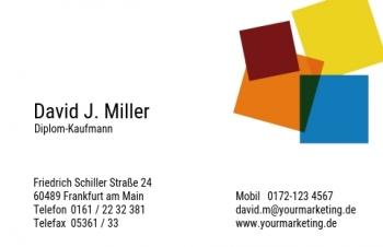 Unternehmensberater-Visitenkarte Art
