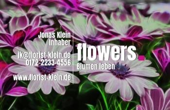 Blumen-Visitenkarte Dot