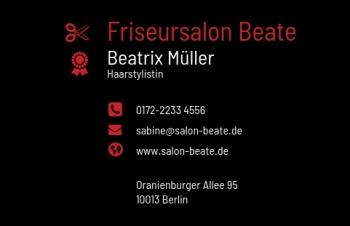 Friseur-Visitenkarte Modern