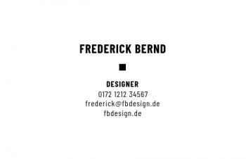 Werbung & Design-Visitenkarte Typo Version-2