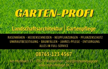 Übersicht Designs-Visitenkarte Offer