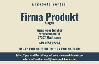 Firmen Visitenkarten-Visitenkarte Shop Here Version-5
