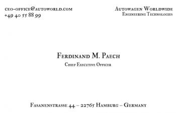 Firmen Visitenkarten-Visitenkarte CEO Version-1
