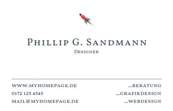 Werbung & Design-Visitenkarte Take Off