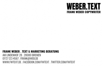 Werbung & Design-Visitenkarte Brand Type