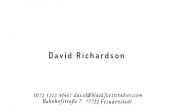Werbung & Design-Visitenkarte Typo Version-3