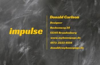 Übersicht Designs-Visitenkarte Impulsiv