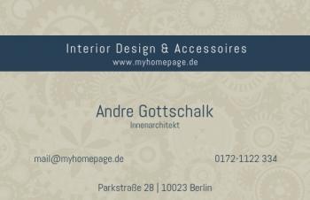 Übersicht Designs-Visitenkarte Stripe