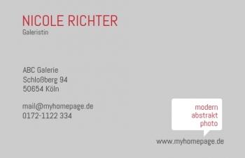 Galerie & Kunst-Visitenkarte Bubble