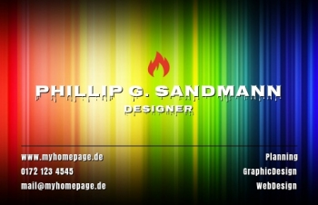 Werbung & Design-Visitenkarte Take Off Version-5