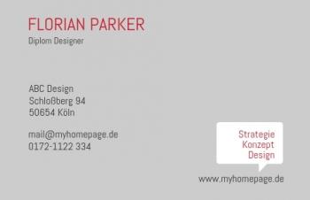 Werbung & Design-Visitenkarte Bubble
