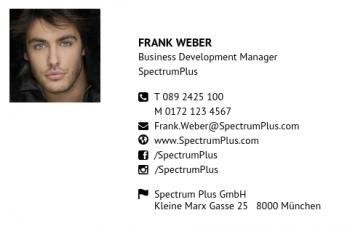 Start-Visitenkarte Portrait