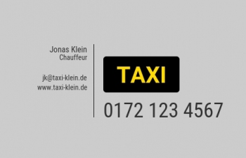 Taxi-Visitenkarte Dot Version-2