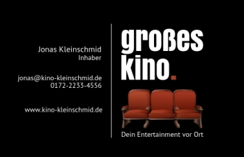 Kino & Theater-Visitenkarte Dot