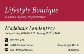 Firmen Visitenkarten-Visitenkarte Shop Here Version-4