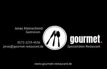 Restaurant-Visitenkarte Dot Version-1