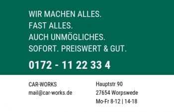 Autohandel-Visitenkarte Uppercase