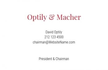 Werbung & Design-Visitenkarte Corporate