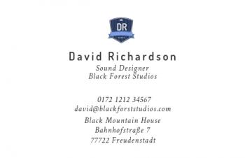 Reifen-Visitenkarte Label Version-6
