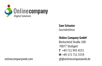 Unternehmensberater-Visitenkarte Corporate Version-4