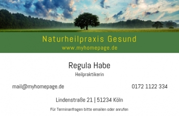 Branchen-Visitenkarte Stripe