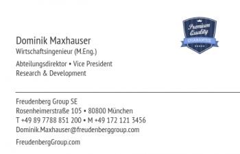 Start-Visitenkarte Corporate