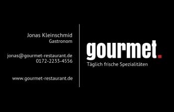 Restaurant-Visitenkarte Dot