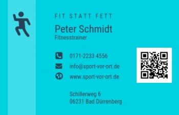 Sport/Fitness-Visitenkarte Modern