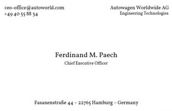 Firmen Visitenkarten-Visitenkarte CEO