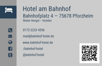Hotel-Visitenkarte Modern