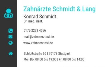 Gesundheit-Visitenkarte Modern