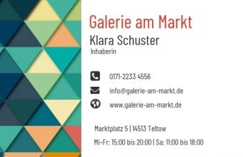 Galerie & Kunst-Visitenkarte Modern