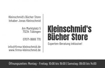 Start-Visitenkarte Shop Here