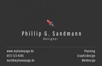 Werbung & Design-Visitenkarte Take Off Version-3