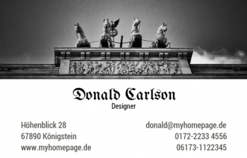 Unternehmensberater-Visitenkarte Berlin