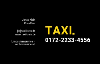Taxi-Visitenkarte Dot Version-1