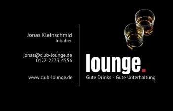 Bar & Club-Visitenkarte Dot