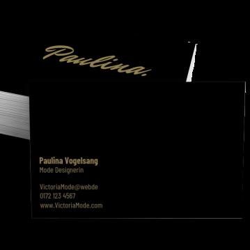 Blumen-Visitenkarte Brand Type