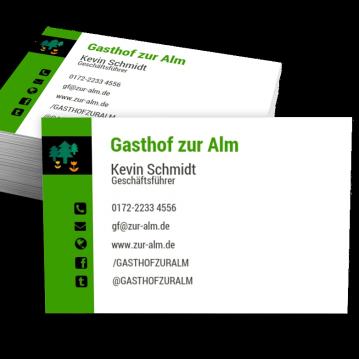 Visitenkarten Vorlage Für Gastronomie Design Modern