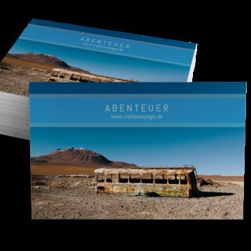 Reisebüro-Visitenkarte Stripe