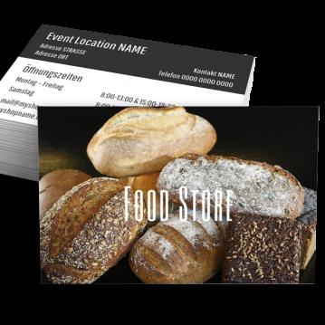 Bäcker & Konditor-Visitenkarte Food Type