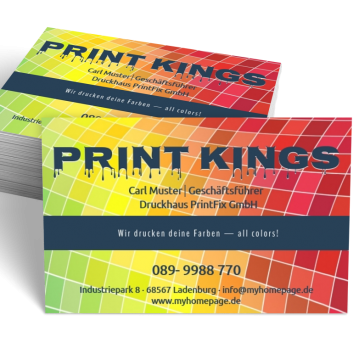 Werbung & Design-Visitenkarte Offer