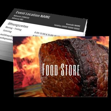 Lebensmittel-Visitenkarte Food Type