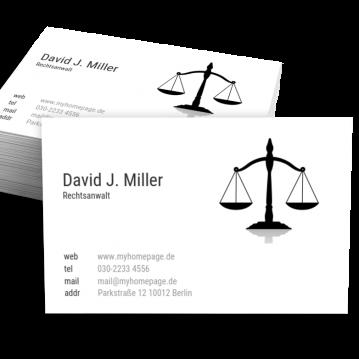 Rechtsanwalt-Visitenkarte Topic