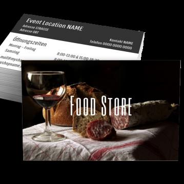 Metzger-Visitenkarte Food Type
