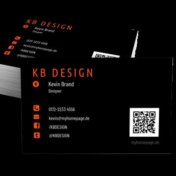 Übersicht Designs-Visitenkarte Modern